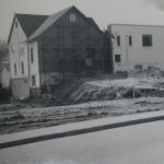 After having torn down the old sanctuary, the back was preserved for extra space and missionary apts.